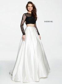 Long dress two piece