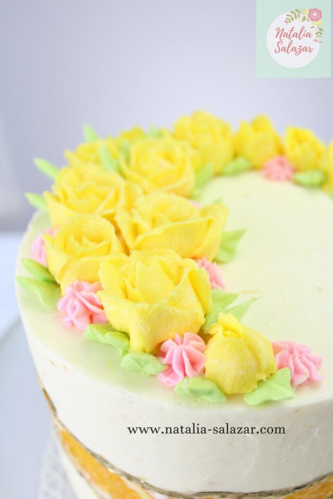 Rosas de buttercream o betun