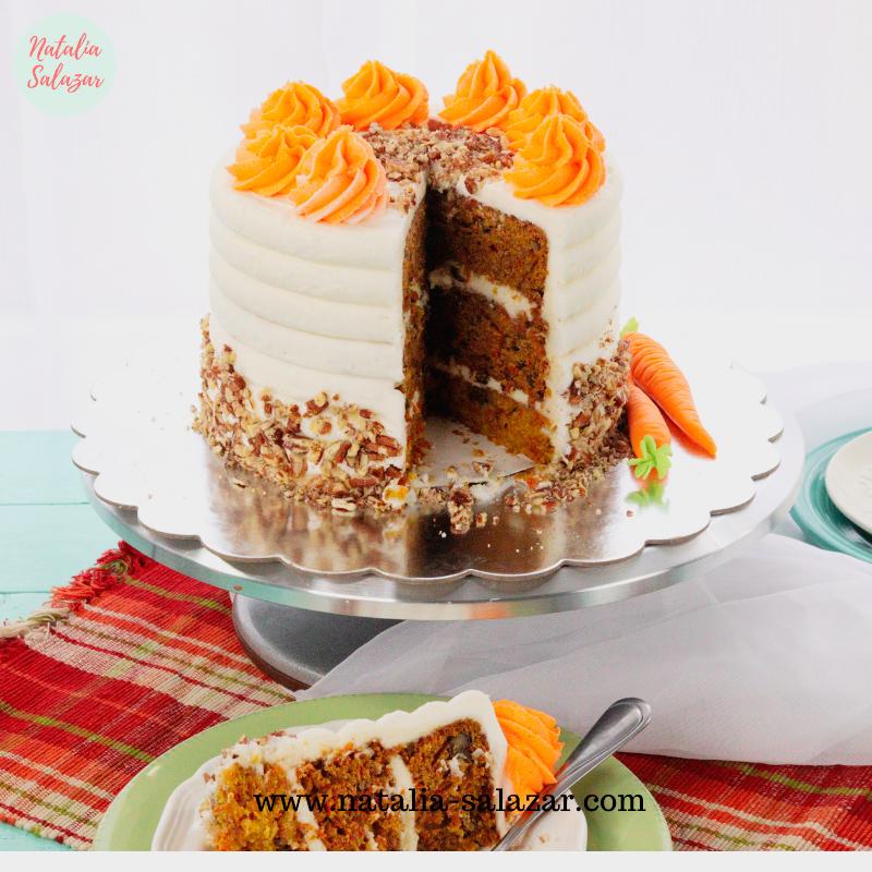 Natalia Salazar pasteleria creativa torta de zanahoria