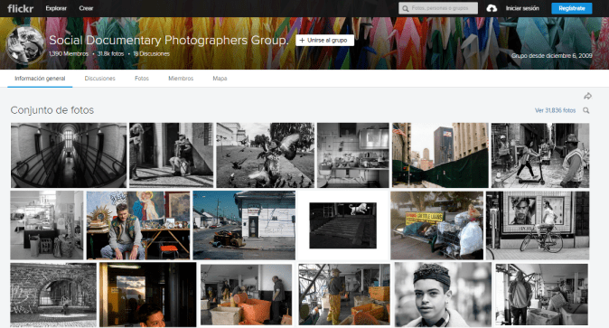 Social Documentary Photography, uno de los inumerables grupos en Flickr.