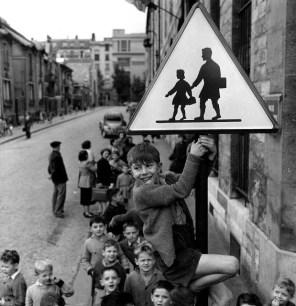 os escolares de la calle Damesme, París 1956 Robert Doisneau