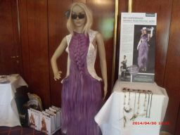 Lady Gaga Haarkleid.