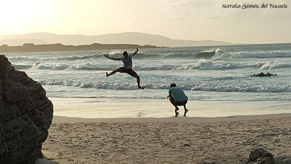 fotografiar salto en la playa