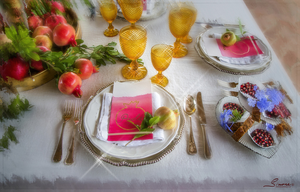 Frutto d'amore is the romantic pomegranate inspired wedding breakfast in a dreamy location in Tuscany