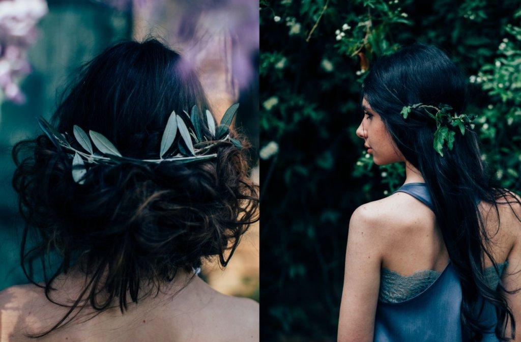 romantic bridal hair Italian style