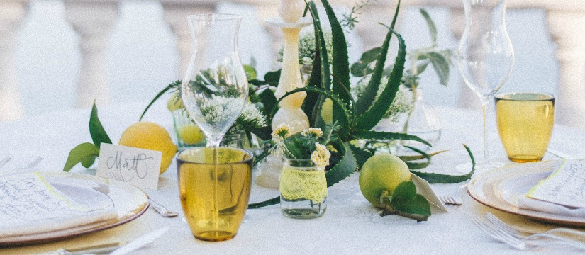 We teamed up with Zafferano glassware – a Limoncello inspired wedding shoot