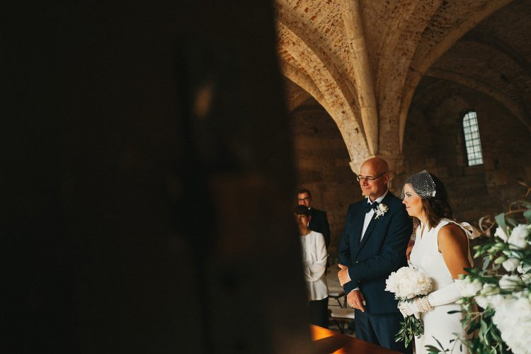 Plan B indoor wedding at San Galgano Abbey