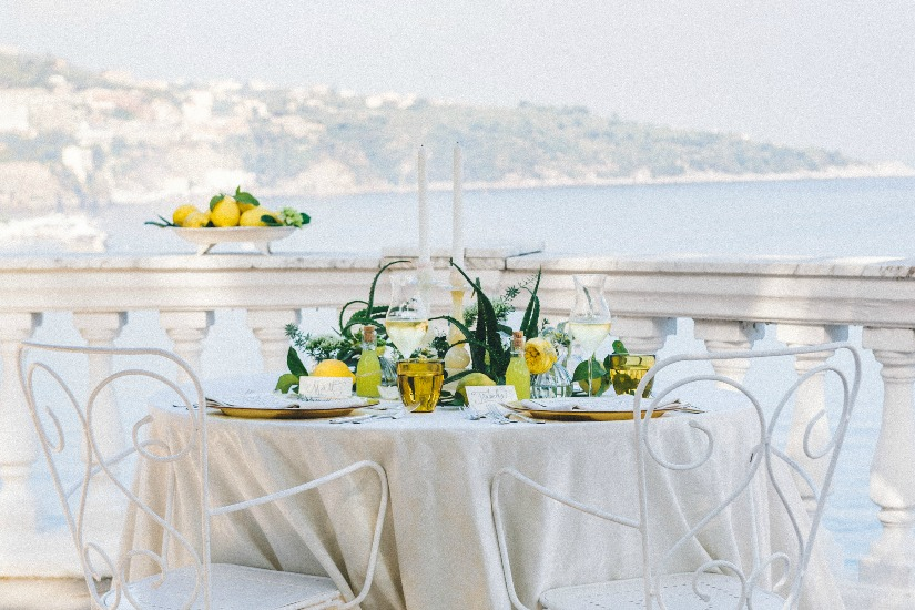a Limoncello and succulents inspired wedding shoot in Sorrento