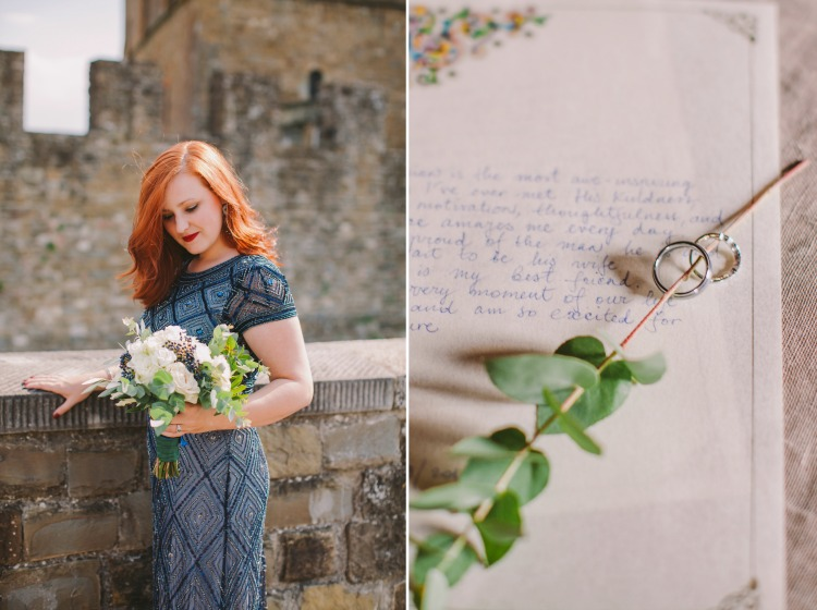 Elopement to Poppi Castle in Tuscany