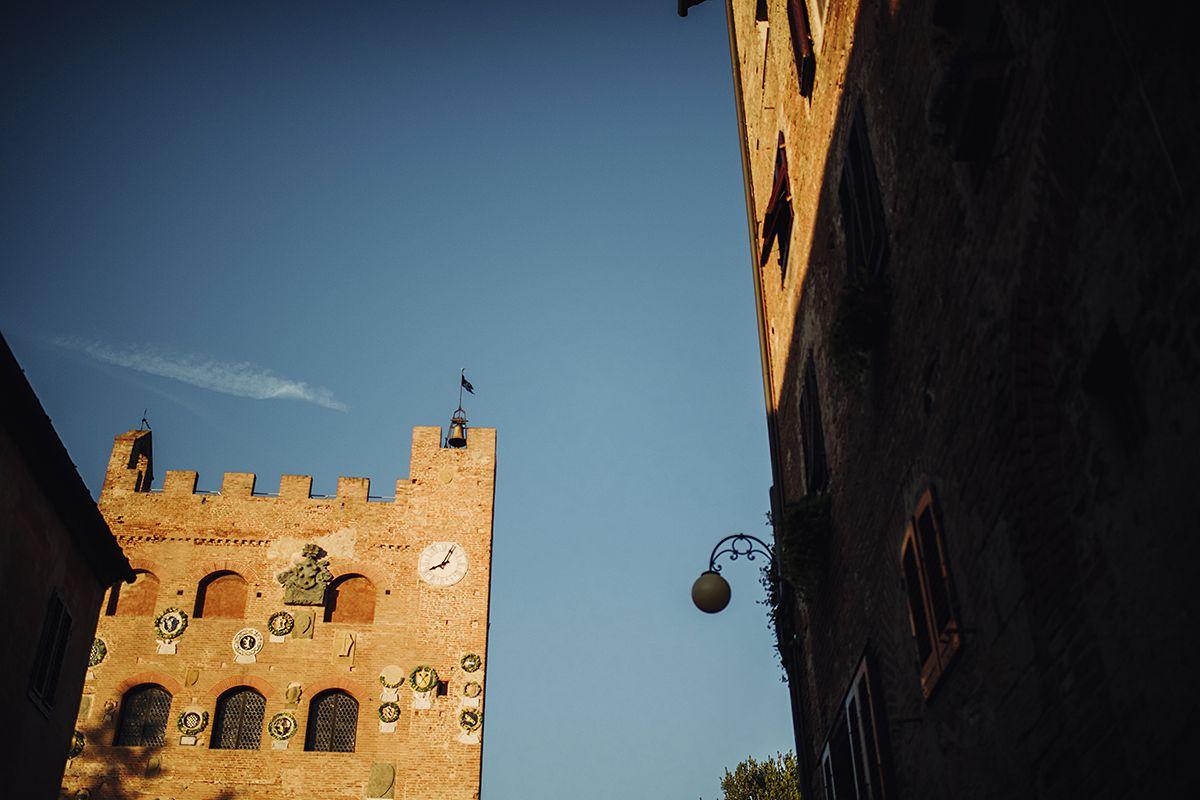 Blue skies over Certaldo Alto