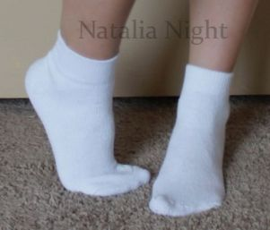 Basic White Ankle Socks. Worn. Unknown brand. $8