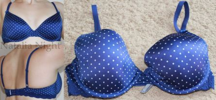 Blue with Dots. Like New. Lightly Lined, Full Coverage. Aerie. $35.