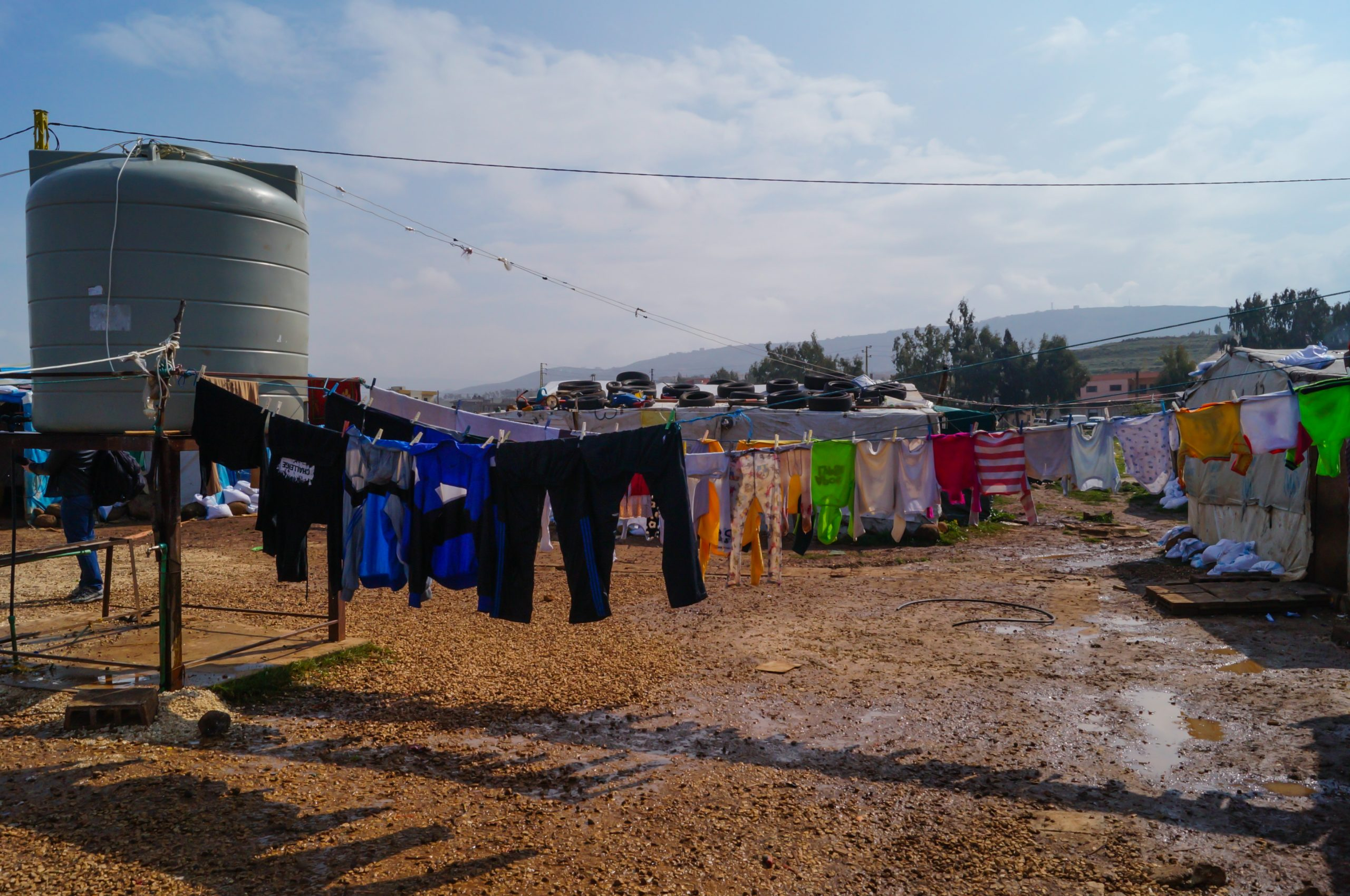 The illegal tent settlement in the town of Kouachra in northern Lebanon, a home to hundreds of Syrian refugees.
