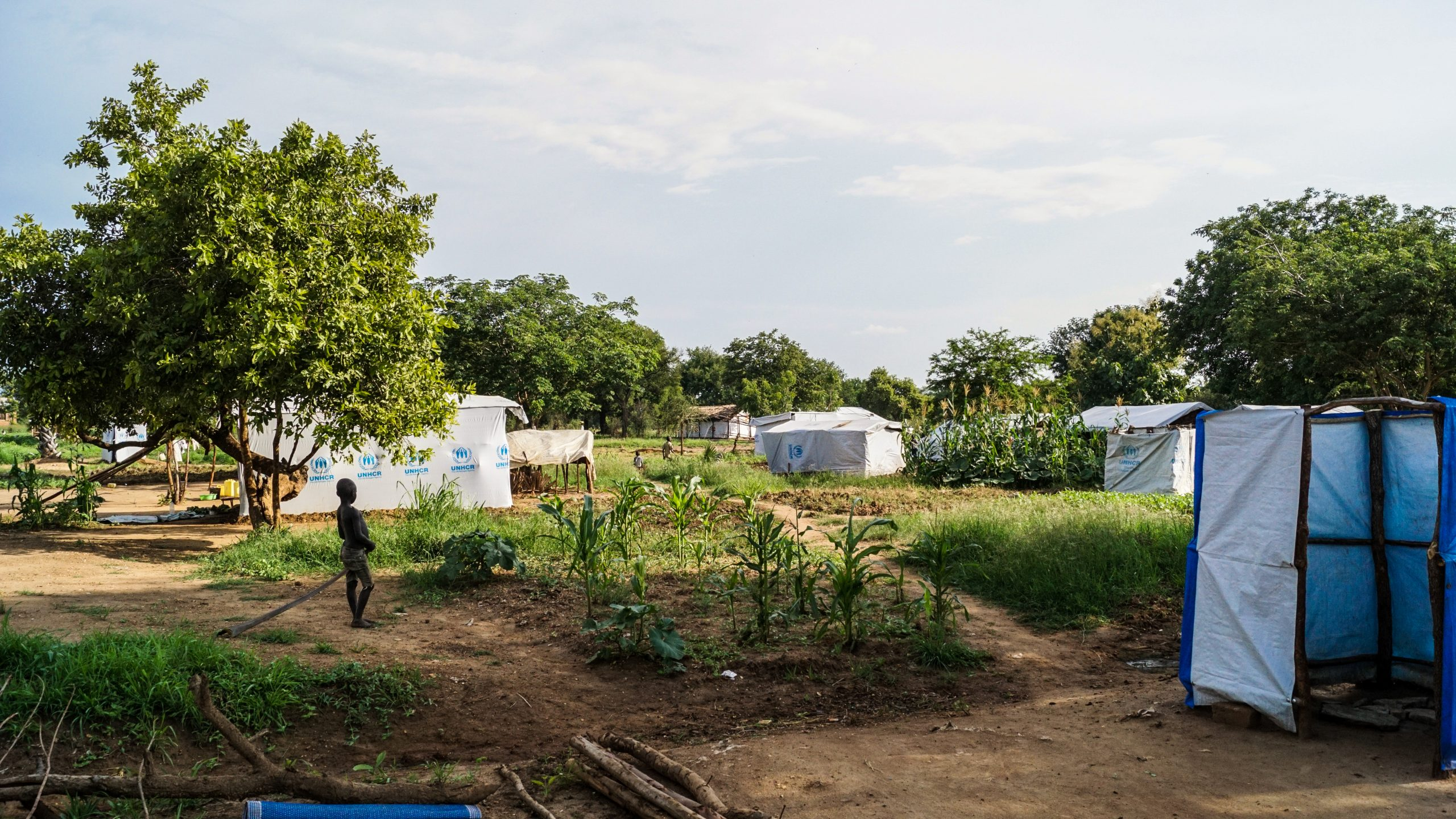 Village for South Sudanese refugees near the Imvepi Refugee Camp in northern Uganda