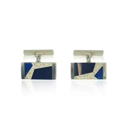 Blue Abstract Cufflinks