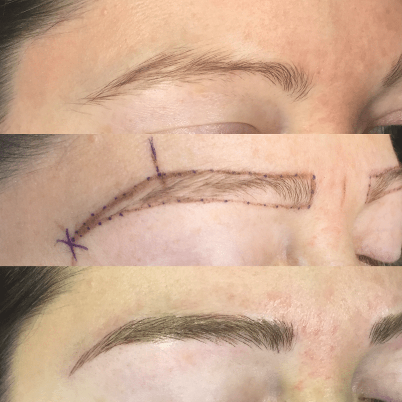 Beautiful Brows - microblading collage Susie L