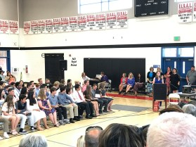 Speaking at Eighth Grade Promotion
