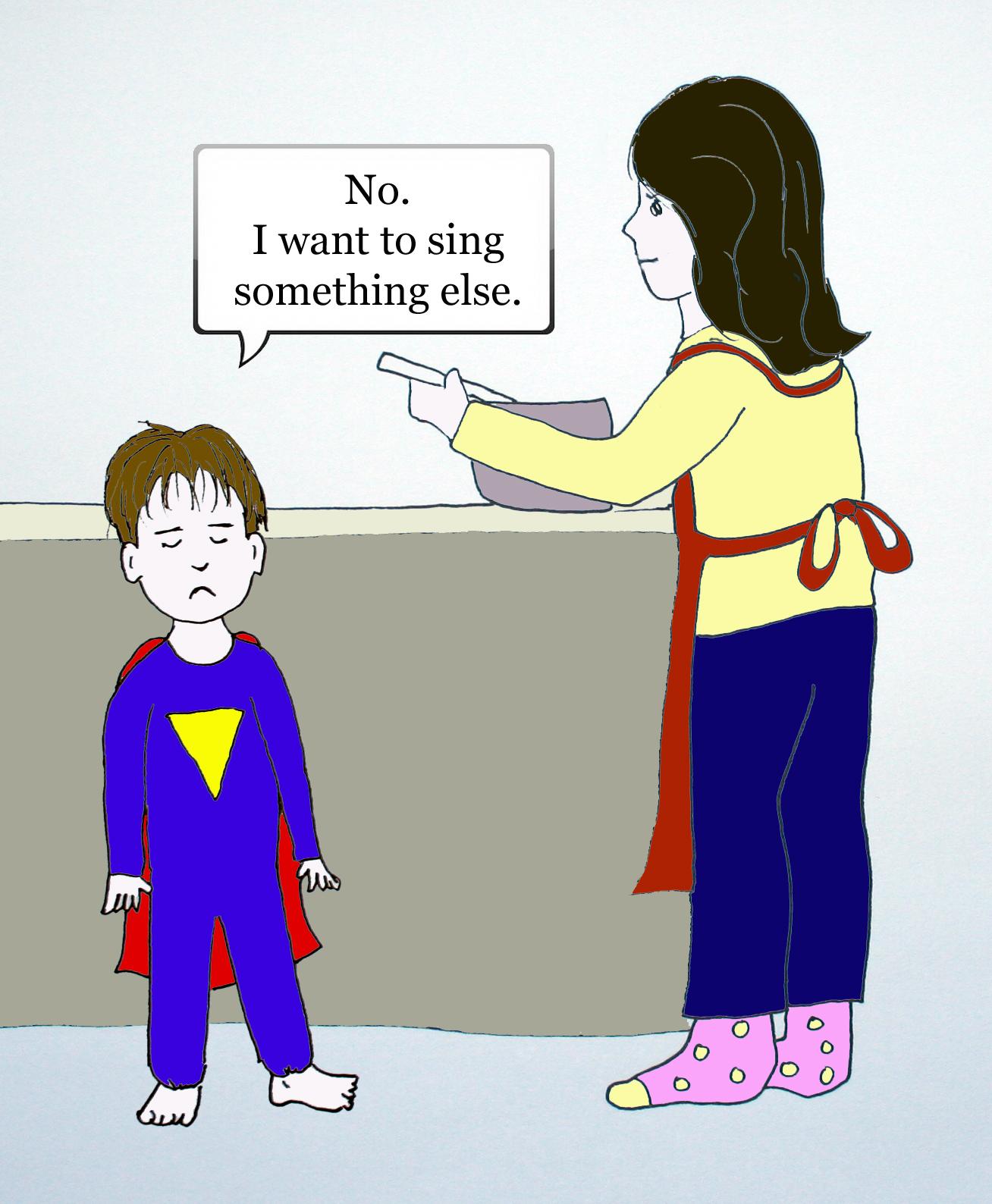 Dramatic Mom comic strip cell 2 by Natalie Buske Thomas