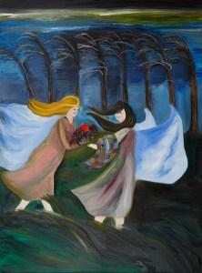 Angels Art oil painting by artist Natalie Buske Thomas