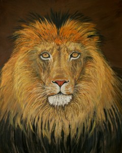 Lion of Judah oil painting by Natalie Buske Thomas