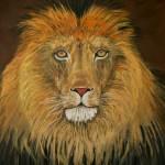 Lion of Judah oil painting by Natalie Buske Thomas