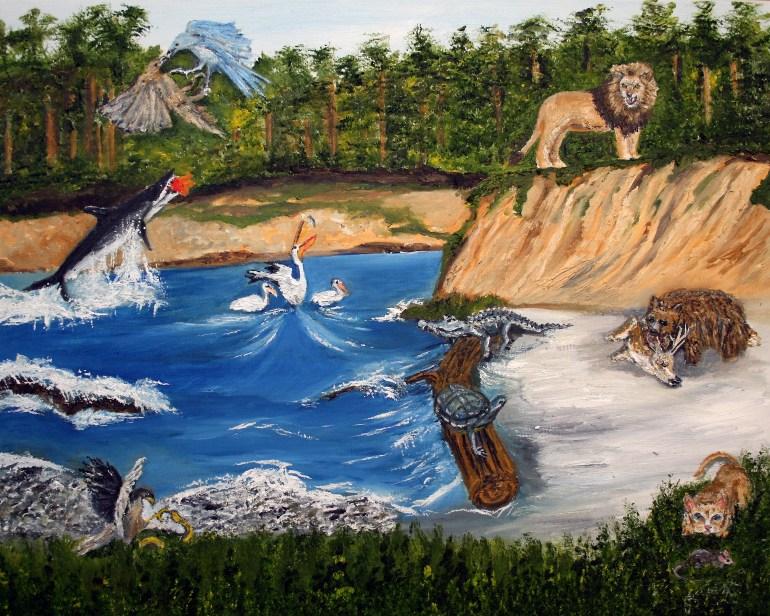 Predator and Prey Alike oil painting by Natalie Buske Thomas Jan 2020