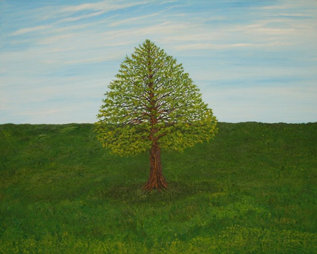 Sheltering Tree oil painting by Natalie Buske Thomas