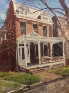 "Original Oil Painting: ""2608 West Grace Street"" Oil on Canvas, 24"" x 18"""