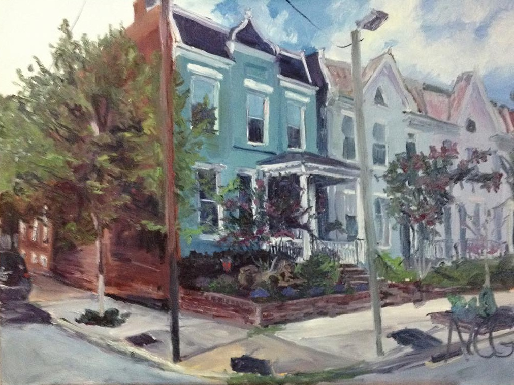 "Original Oil Painting: ""Fan House on Shields"" Oil on Canvas, 18"" x 24"""