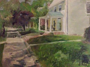 """Original Oil Painting-Scnenes of Richmond: """"House in the Fan,"""" Oil on Canvas, 18"""" x 24"""""""