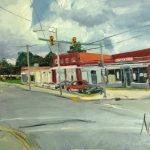 "Original oil painting-Scenes of Richmond: ""Krispies Chicken"" Oil on Canvas, 18"" x 24"""
