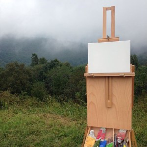French Box Easel with blank Canvas