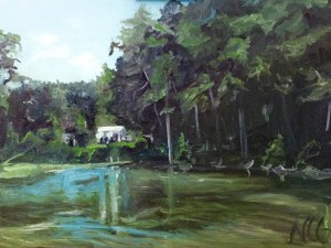 """Original Oil Painting:""""River House in Lancaster, VA"""" Oil on Canvas, 24"""" x 18"""""""