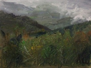 "Original Plein Air Painting:""Shenandoah Mountains in Mist"" Oil on Canvas, 9"" x 12"""