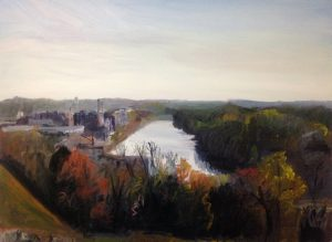 """Original Oil Painting:""""Libby Hill View of Richmond on the James"""" Oil on Canvas, 30"""" x 40"""""""