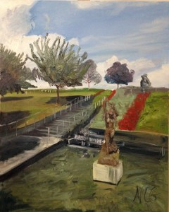 """Original Oil Painting-Scenes of Richmond: """"Little Lady of the Sea at VMFA"""" Oil on Canvas, 30""""x24"""""""