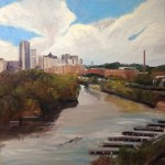 """Original Oil Painting-Scenes of Richmond: """"Richmond on the James"""" Oil on Canvas, 30"""" x 40"""""""