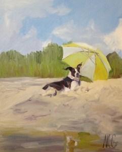 "Original Oil Painting-Pet Portraits: ""Della Rose"" Oil on Canvas, 16"" x 20"""