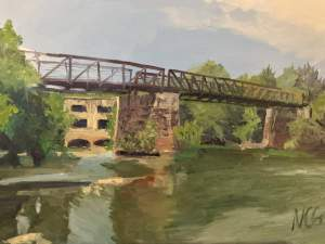 Original Oil Painting: Bridge on Belle Isle