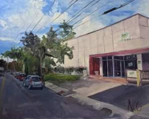 Original Oil Painting, scenes of Richmond VA, Health Brigade