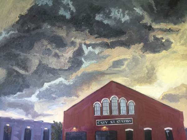 """Original Oil Painting by Natalie Colleen Gates: """"Cary St. Station"""""""