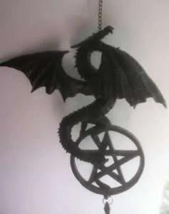 Dragon with Pentagram hanging