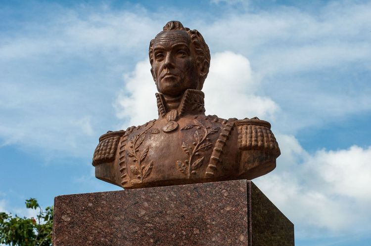 """Bust of the Liberator, Simon Bolivar at Punta de Piedras, Margarita island"" December 28, 2012; Courtesy of Wikimedia Commons"