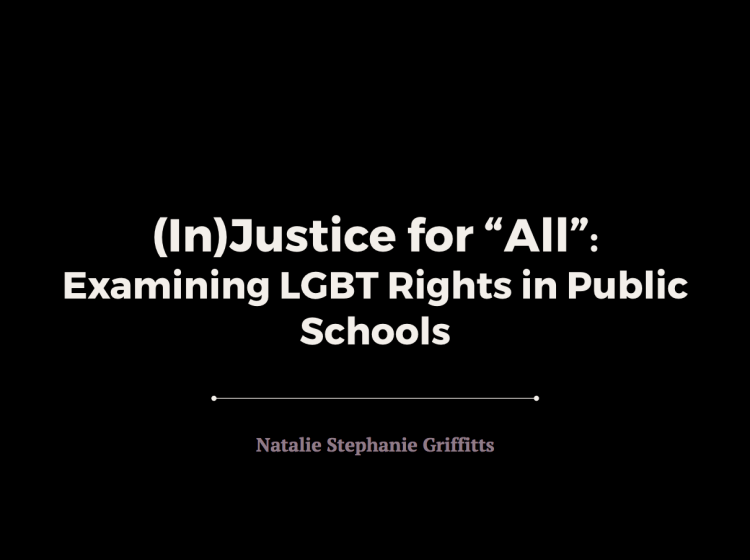 "Griffitts, N.S. (2017). ""(In)Justice for ""All"" Presentation."""