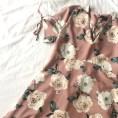 Primark Dusky Pink Rose Dress with Lace up Back (Size 16) - £13