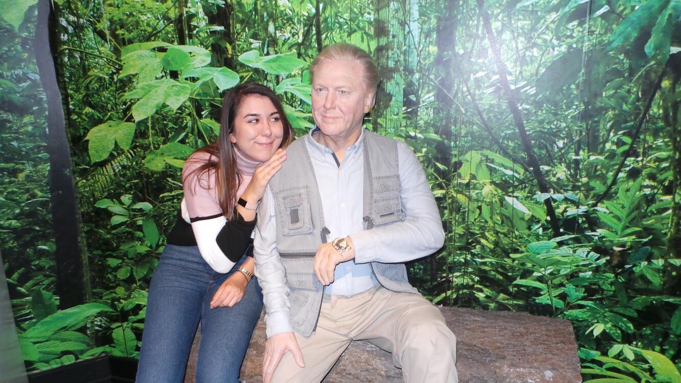 meeting David Attenborough in Blackpool