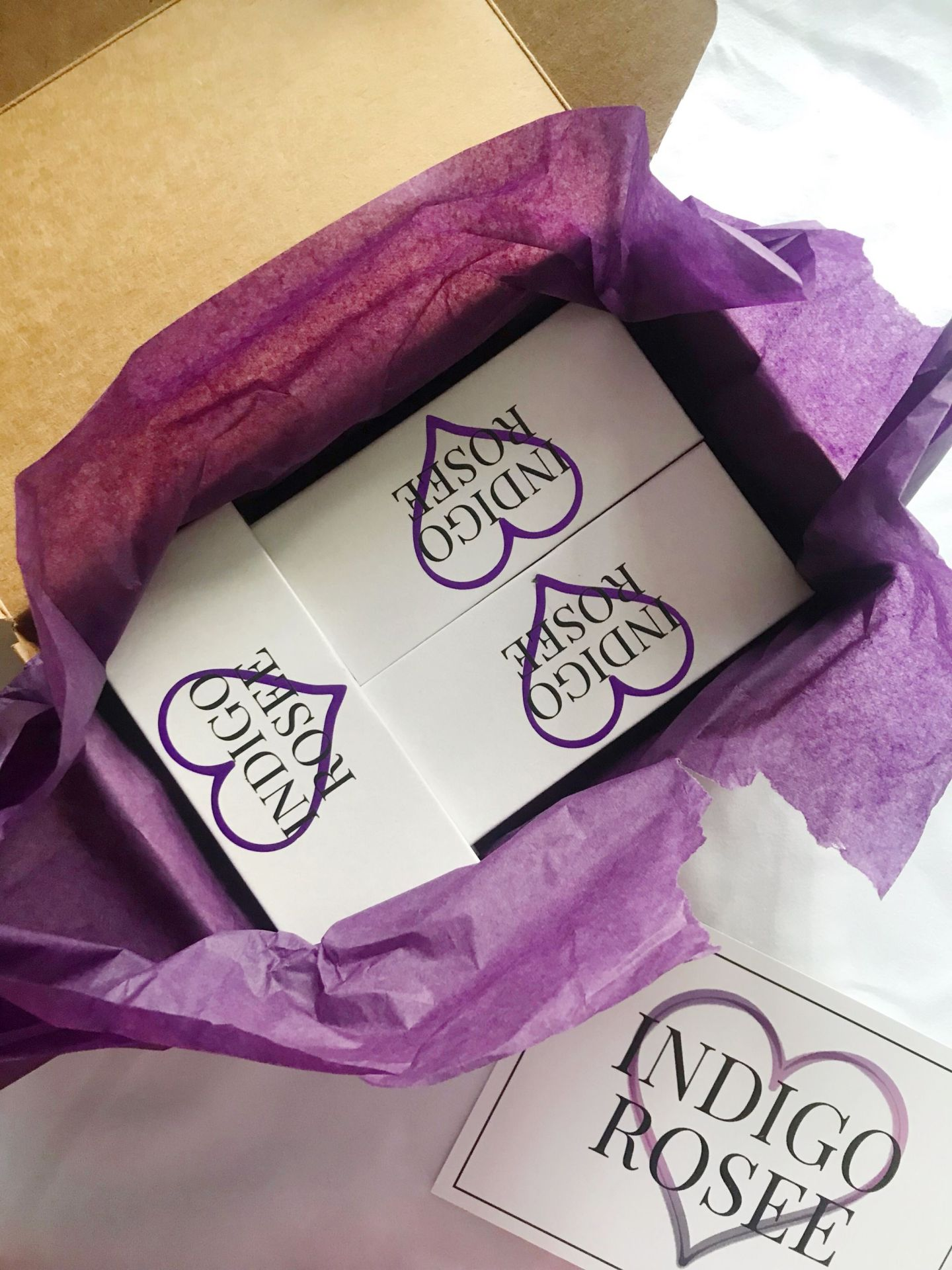 opening Indigo Rosee Beauty package