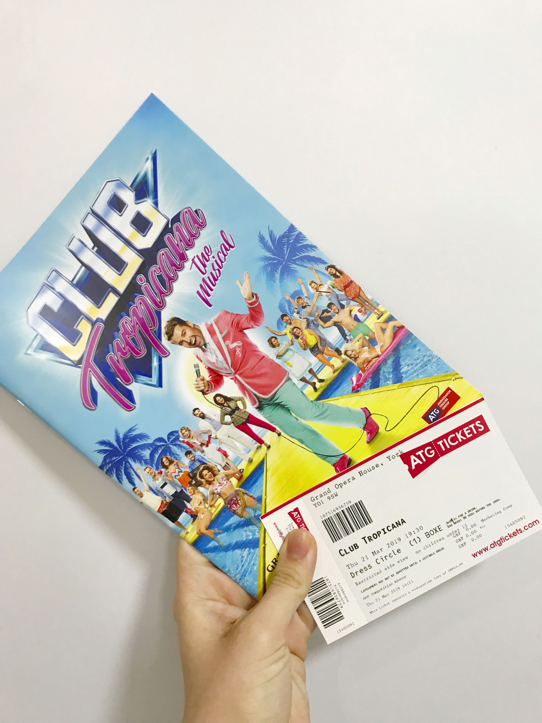 Club Tropicana The Musical programme and tickets