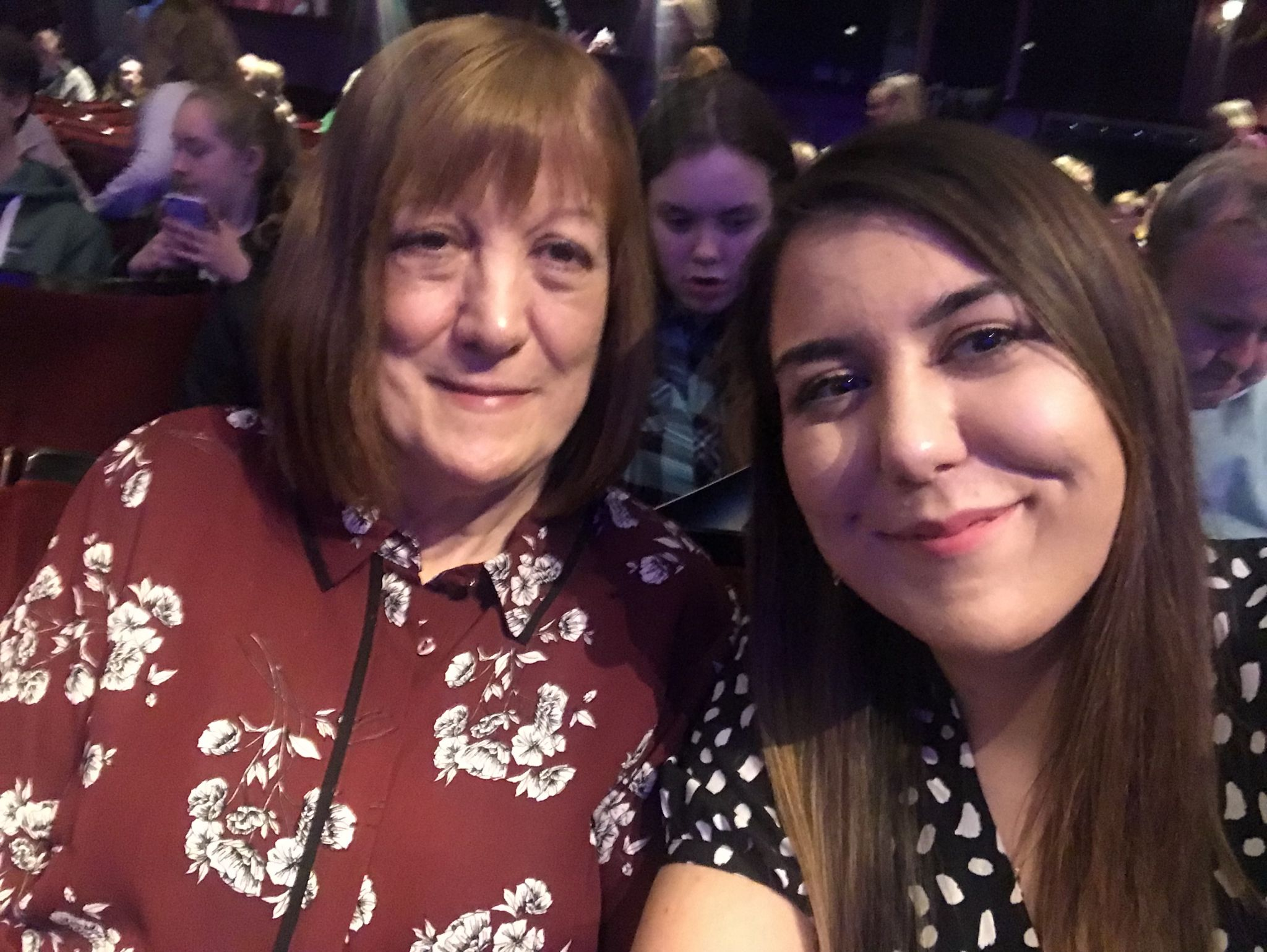 mum and I in the theatre