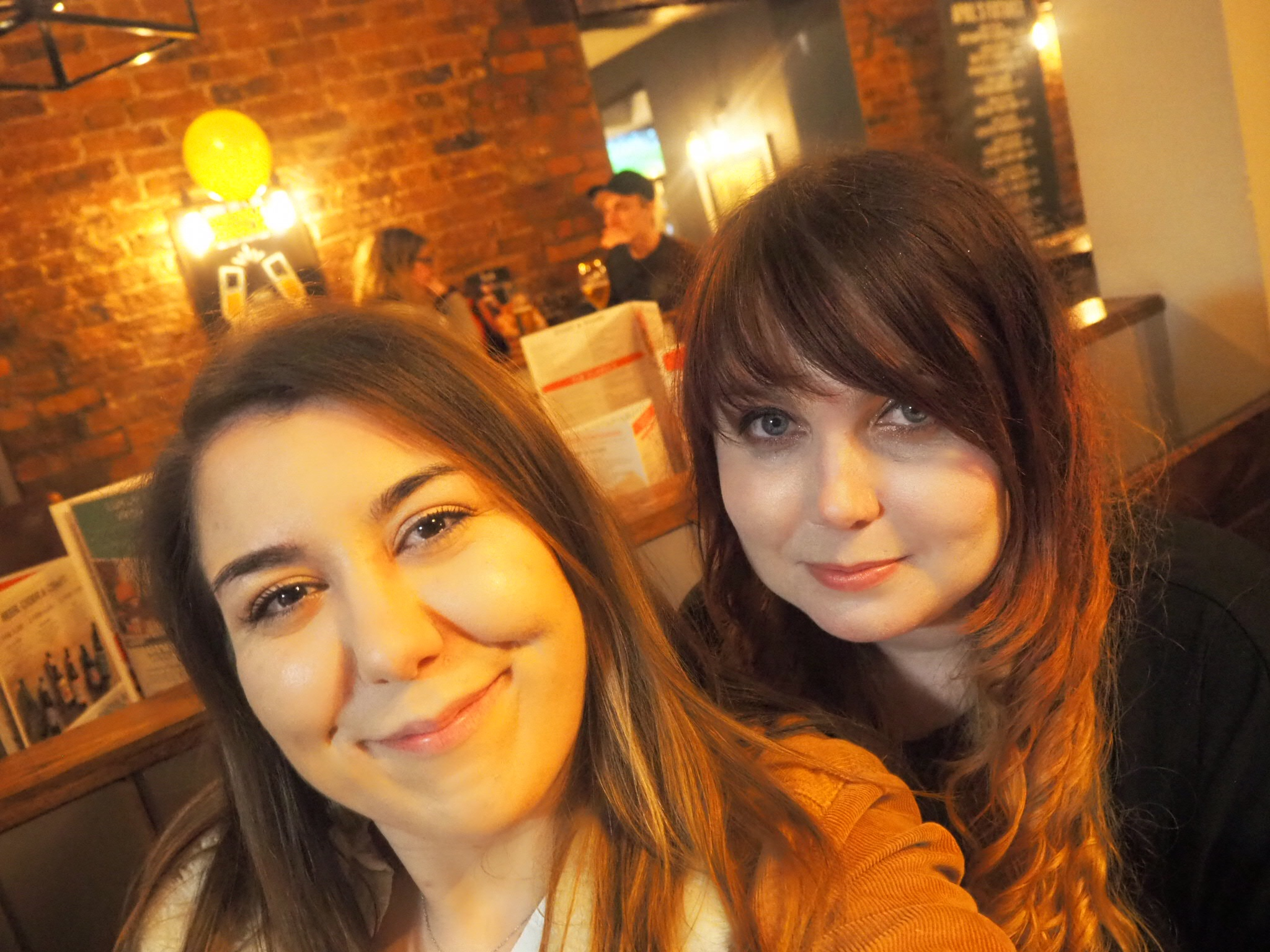 selfie of Louise and myself at the new menu launch